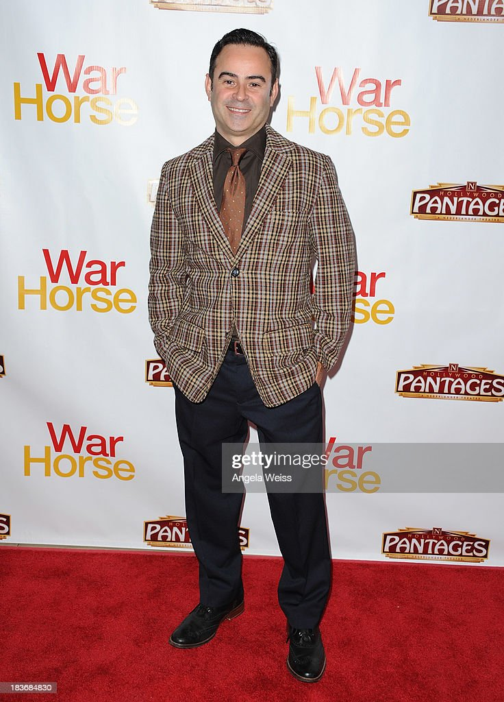 Actor Nelson Ascencio arrrives at the opening night for 'War Horse' at the Pantages Theatre on October 8, 2013 in Hollywood, California.