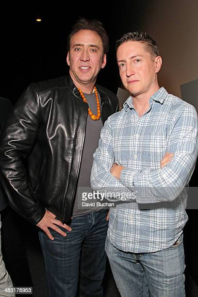 Actor Nic Cage and Director David Gordon Green attend Out On A Limb A tribute to Nicholas Cage special screening of 'JOE' at Aero Theatre on April 6...