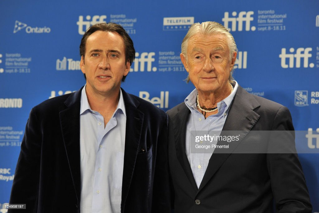 Actor Nichoals Cage and director Joel Schumacher speak at 'Trespass' press conference during the 2011 Toronto International Film Festival at the TIFF...
