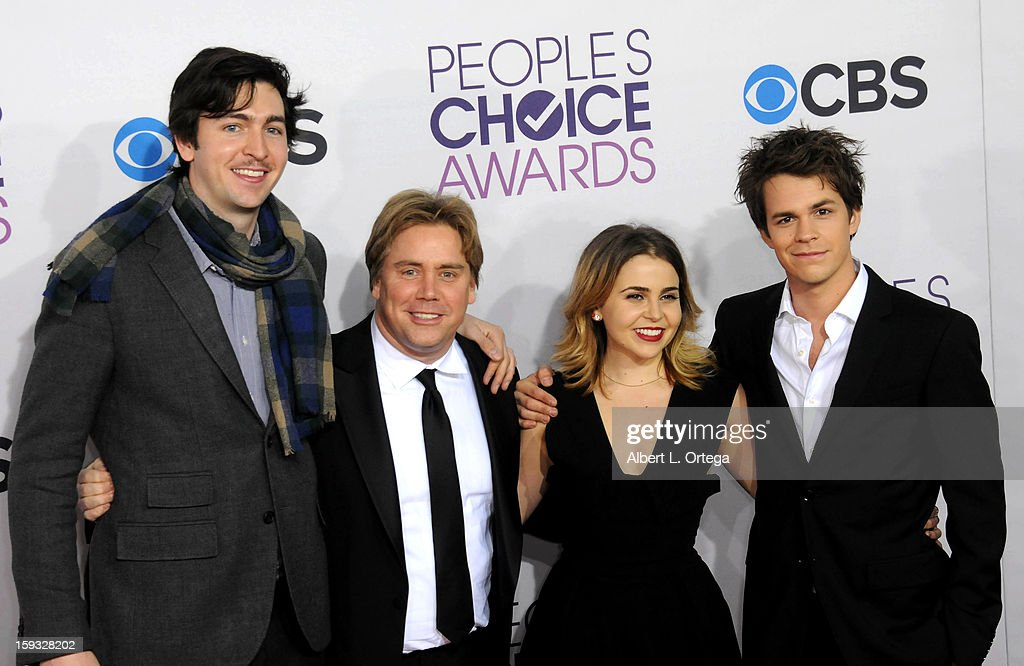 Actor Nicholas Braun, director Stephen Chbosky, actress mae Whitman and actor Johnny Simmons arrive for the 34th Annual People's Choice Awards - Arrivals held at Nokia Theater at L.A. Live on January 9, 2013 in Los Angeles, California.