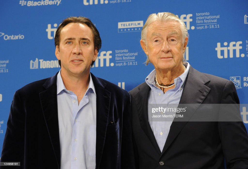 Actor Nicholas Cage and director Joel Schumacher speak at 'Trespass' press conference during the 2011 Toronto International Film Festival at the TIFF...
