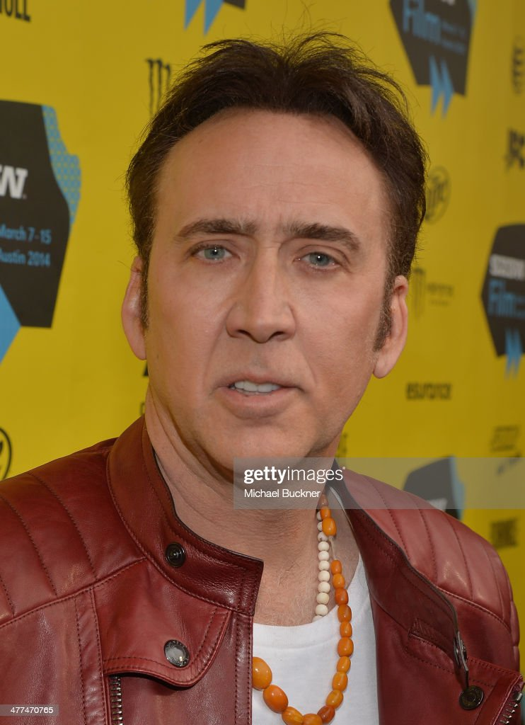 Actor Nicholas Cage arrives at the premiere of 'Joe' during the 2014 SXSW Music, Film + Interactive Festival at Paramount Theatre on March 9, 2014 in Austin, Texas.