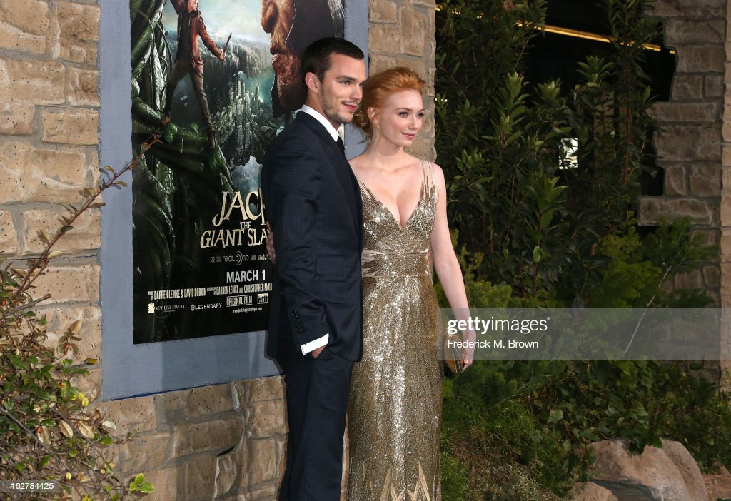 Actor <a gi-track='captionPersonalityLinkClicked' href=/galleries/search?phrase=Nicholas+Hoult&family=editorial&specificpeople=598892 ng-click='$event.stopPropagation()'>Nicholas Hoult</a> (L) and actress <a gi-track='captionPersonalityLinkClicked' href=/galleries/search?phrase=Eleanor+Tomlinson&family=editorial&specificpeople=2649367 ng-click='$event.stopPropagation()'>Eleanor Tomlinson</a> attend the Premiere Of New Line Cinema's 'Jack The Giant Slayer' at the TCL Chinese Theatre on February 26, 2013 in Hollywood, California.