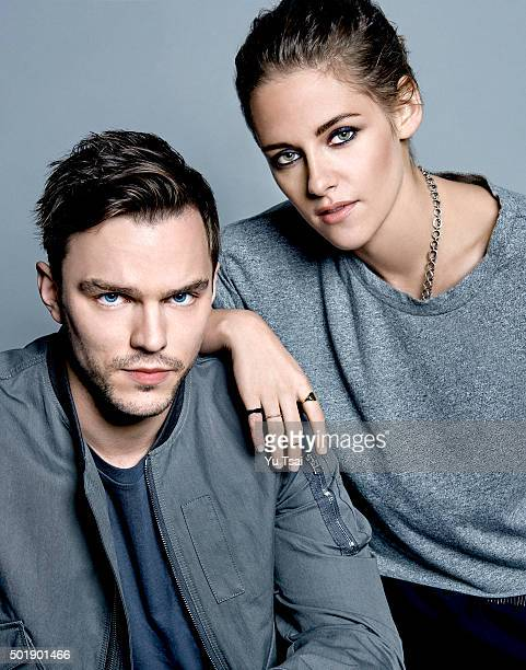 Actor Nicholas Hoult and actress Kristen Stewart are photographed at the Toronto Film Festival for Variety on September 12 2015 in Toronto Ontario...