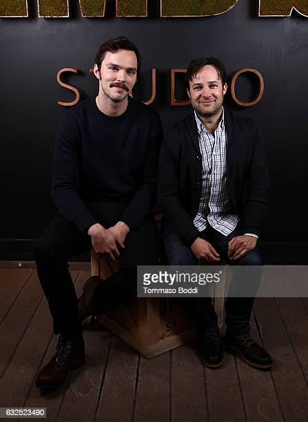 Actor Nicholas Hoult and director Danny Strong of 'Rebel in the Rye' attend The IMDb Studio featuring the Filmmaker Discovery Lounge presented by...