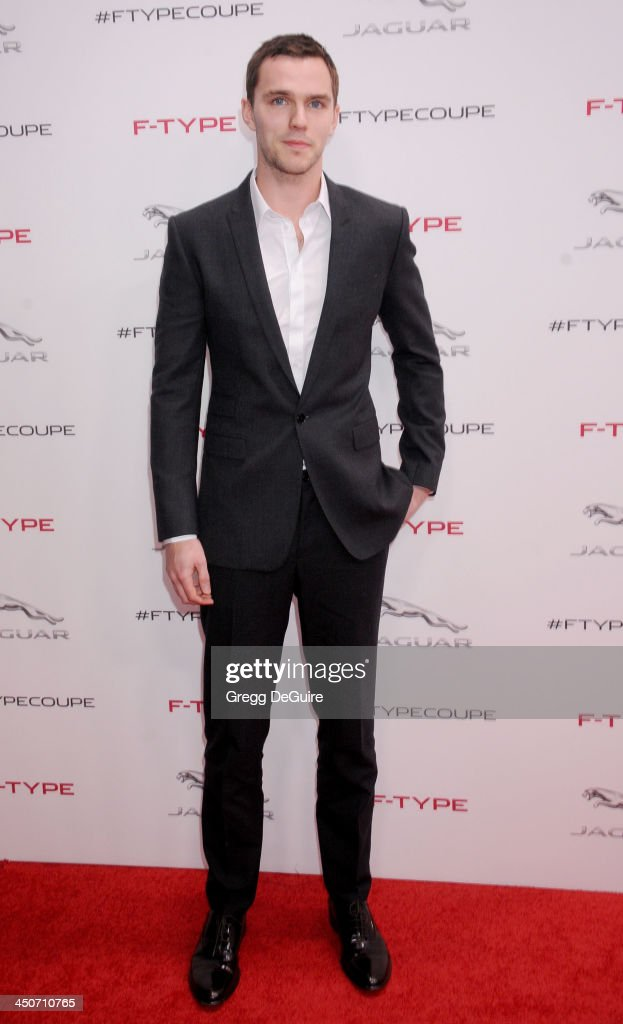 Actor <a gi-track='captionPersonalityLinkClicked' href=/galleries/search?phrase=Nicholas+Hoult&family=editorial&specificpeople=598892 ng-click='$event.stopPropagation()'>Nicholas Hoult</a> arrives at the Jaguar F-TYPE Coupe launch party at Raleigh Studios on November 19, 2013 in Playa Vista, California.