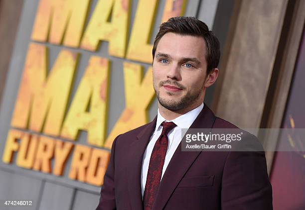 Actor Nicholas Hoult arrives at the Los Angeles premiere of 'Mad Max Fury Road' at TCL Chinese Theatre IMAX on May 7 2015 in Hollywood California
