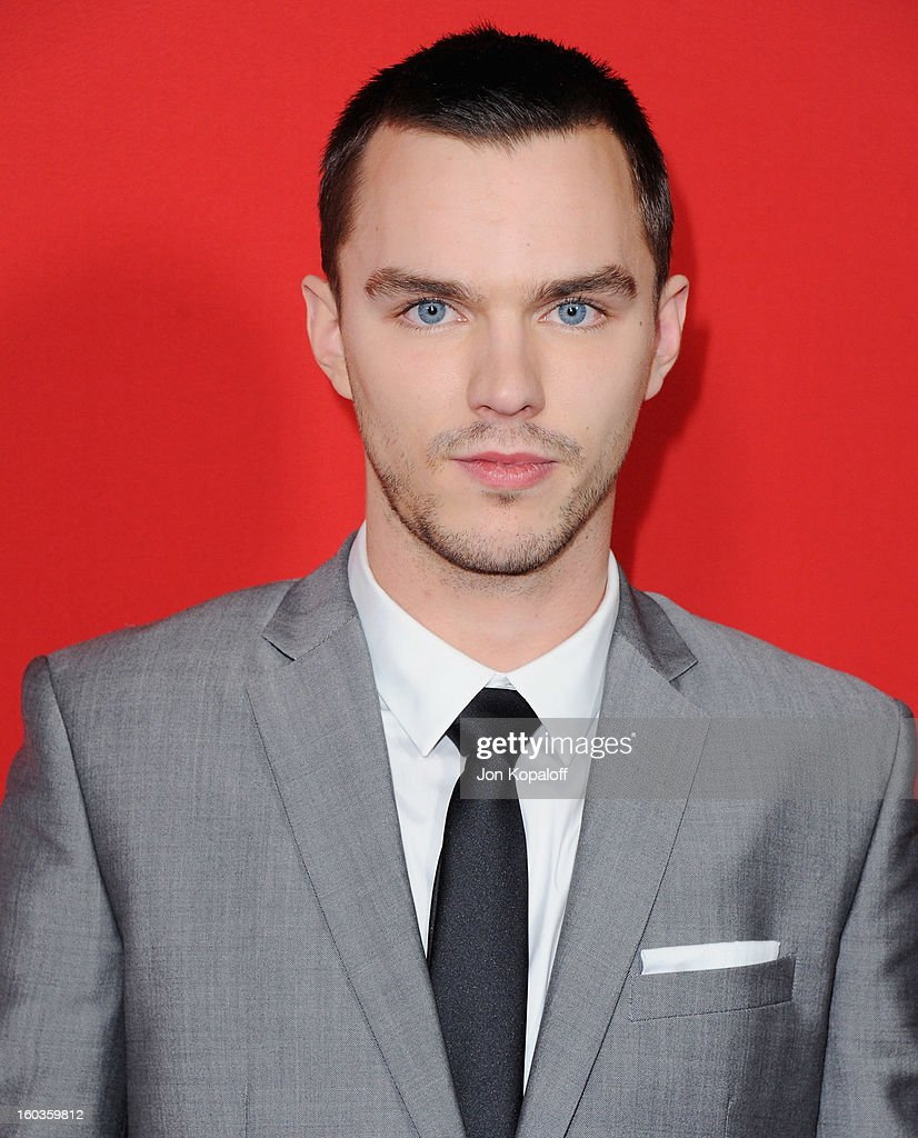 Actor Nicholas Hoult arrives at the Los Angeles Premiere 'Warm Bodies' at ArcLight Cinemas Cinerama Dome on January 29, 2013 in Hollywood, California.