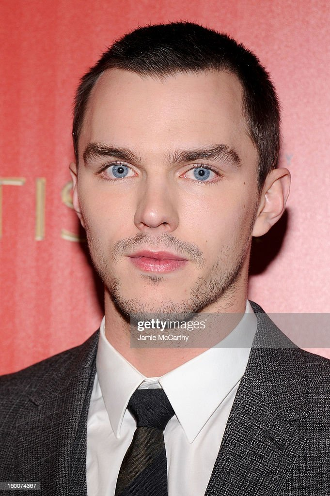 Actor Nicholas Hoult attends a screening of 'Warm Bodies' hosted by The Cinema Society at Landmark's Sunshine Cinema on January 25, 2013 in New York City.