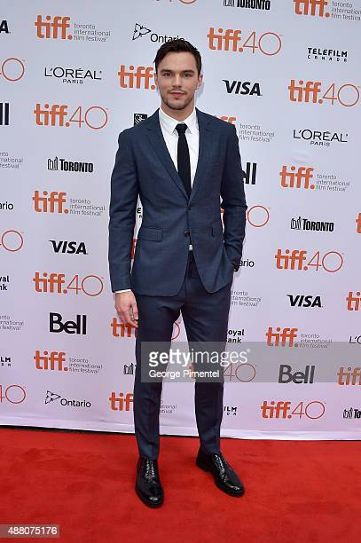 Actor Nicholas Hoult attends the 'Equals' premiere during the 2015 Toronto International Film Festival at the Princess of Wales Theatre on September...
