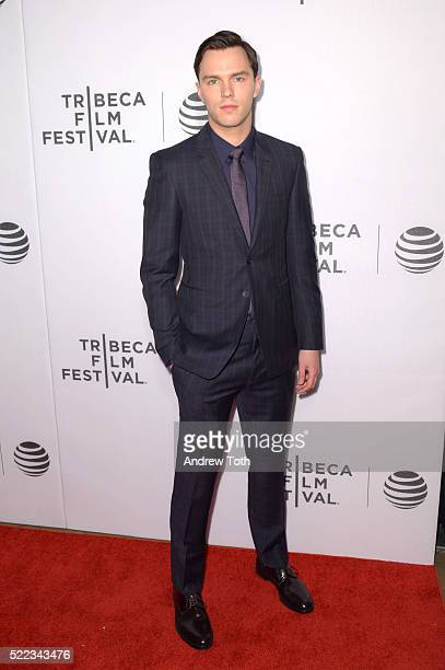Actor Nicholas Hoult attends the 'Equals' premiere during the 2016 Tribeca Film Festival at John Zuccotti Theater at BMCC Tribeca Performing Arts...