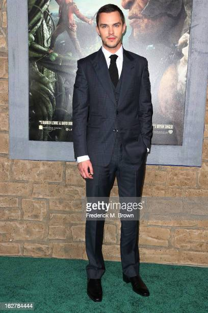 Actor Nicholas Hoult attends the Premiere Of New Line Cinema's 'Jack The Giant Slayer' at the TCL Chinese Theatre on February 26 2013 in Hollywood...