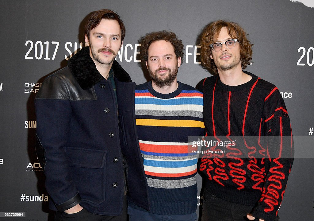 Actor Nicholas Hoult, director Drake Doremus, and actor Matthew Gray Gubler attend the 'Newness' Premiere on day 7 of the 2017 Sundance Film Festival at Eccles Center Theatre on January 25, 2017 in Park City, Utah.