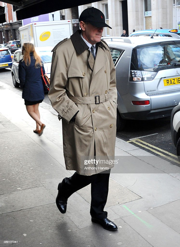 Actor Nicholas Lyndhurst attends the funeral of actor Roger Lloyd-Pack at St Paul's Church on February 13, 2014 in London, England.