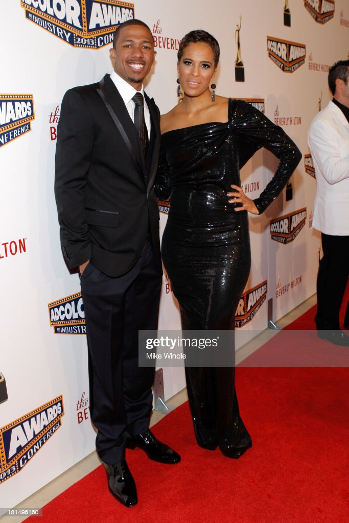 Actor <a gi-track='captionPersonalityLinkClicked' href=/galleries/search?phrase=Nick+Cannon&family=editorial&specificpeople=202208 ng-click='$event.stopPropagation()'>Nick Cannon</a> (L) and Television Personality <a gi-track='captionPersonalityLinkClicked' href=/galleries/search?phrase=Daphne+Wayans&family=editorial&specificpeople=4878193 ng-click='$event.stopPropagation()'>Daphne Wayans</a> attend the ADCOLOR Awards at The Beverly Hilton Hotel on September 21, 2013 in Beverly Hills, California.
