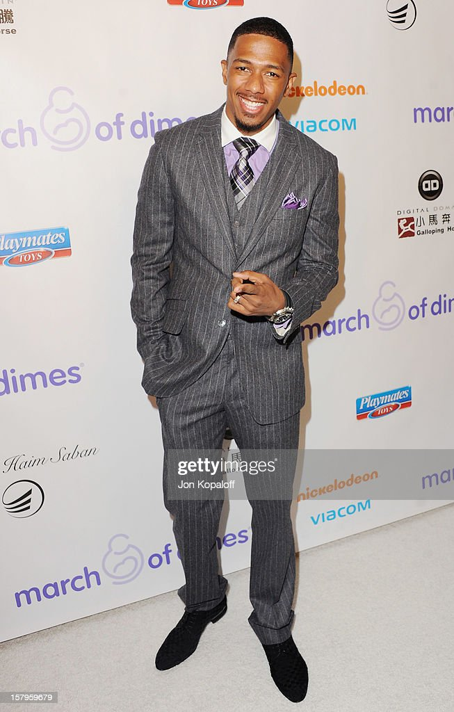 Actor Nick Cannon arrives at the March Of Dimes Celebration Of Babies Luncheon at Beverly Hills Hotel on December 7, 2012 in Beverly Hills, California.