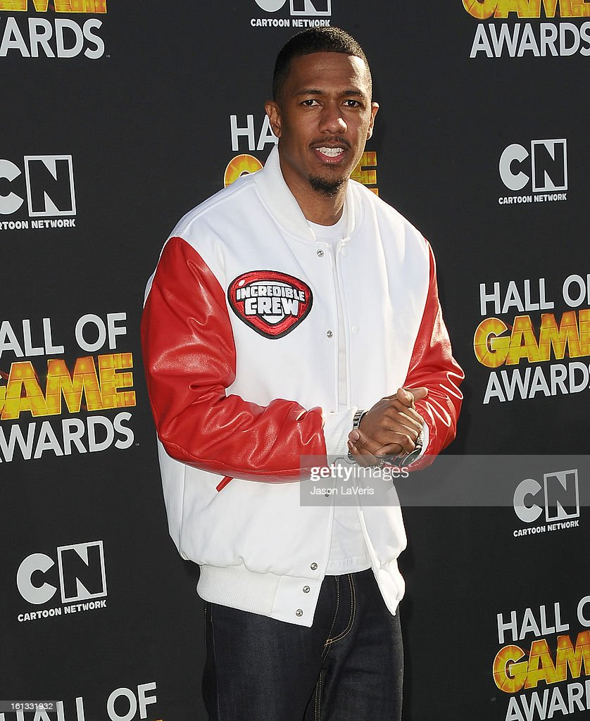 Actor Nick Cannon attends the Cartoon Network 3rd annual Hall Of Game Awards at Barker Hangar on February 9, 2013 in Santa Monica, California.