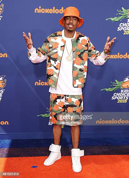 Actor Nick Cannon attends the Nickelodeon Kids' Choice Sports Awards at UCLA's Pauley Pavilion on July 16 2015 in Westwood California