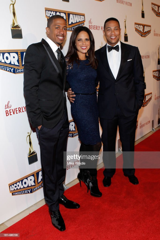 Actor <a gi-track='captionPersonalityLinkClicked' href=/galleries/search?phrase=Nick+Cannon&family=editorial&specificpeople=202208 ng-click='$event.stopPropagation()'>Nick Cannon</a>, Journalists <a gi-track='captionPersonalityLinkClicked' href=/galleries/search?phrase=Soledad+O%27Brien&family=editorial&specificpeople=223926 ng-click='$event.stopPropagation()'>Soledad O'Brien</a>, and Don Lemon attend the ADCOLOR Awards at The Beverly Hilton Hotel on September 21, 2013 in Beverly Hills, California.