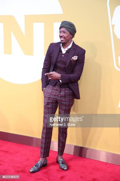 Actor Nick Cannon on the red carpet at the NBA Awards Show on June 26 2017 at Basketball City at Pier 36 in New York City New York NOTE TO USER User...