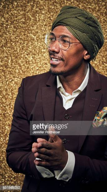 Actor Nick Cannon poses for a portrait at the NBA Awards Show on June 26 2017 at Basketball City at Pier 36 in New York City New York NOTE TO USER...