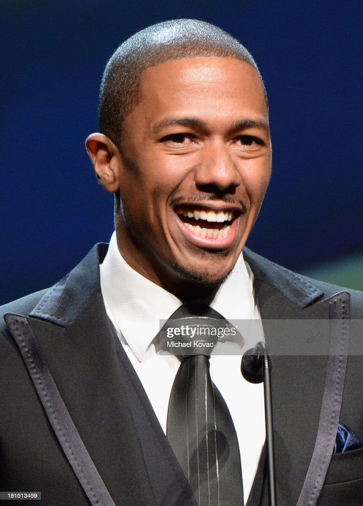 Actor <a gi-track='captionPersonalityLinkClicked' href=/galleries/search?phrase=Nick+Cannon&family=editorial&specificpeople=202208 ng-click='$event.stopPropagation()'>Nick Cannon</a> speaks on stage at the ADCOLOR Awards at The Beverly Hilton Hotel on September 21, 2013 in Beverly Hills, California.