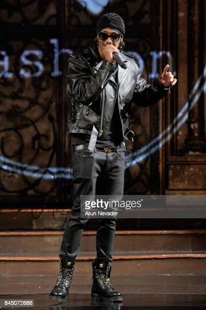 Actor Nick Cannon speaks onstage during New York Fashion Week NYFW Art Hearts Fashion show Hosted by Nick Cannon at The Angel Orensanz Foundation on...