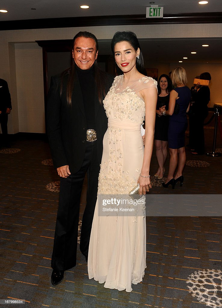 Actor Nick Chavez (L) and Rebecca Da Costa attend the 20th Annual Race To Erase MS Gala 'Love To Erase MS' at the Hyatt Regency Century Plaza on May 3, 2013 in Century City, California.