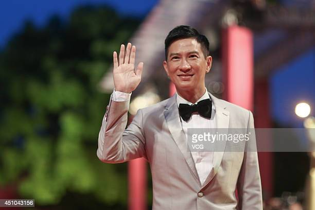 Actor Nick Cheung attends closing and award ceremony of 17th Shanghai International Film Festival at Shanghai Grand Theatre on June 22 2014 in...