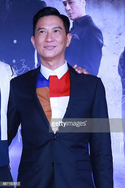 Actor Nick Cheung Kafai attends the premiere of director Jazz Boon's film 'Line Walker' on August 7 2016 in Beijing China