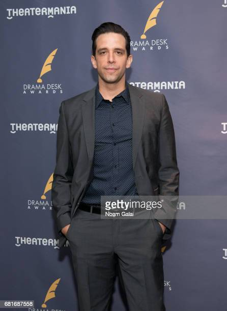 Actor Nick Cordero attends the 2017 Drama Desk Nominees Reception at Marriott Marquis Times Square on May 10 2017 in New York City