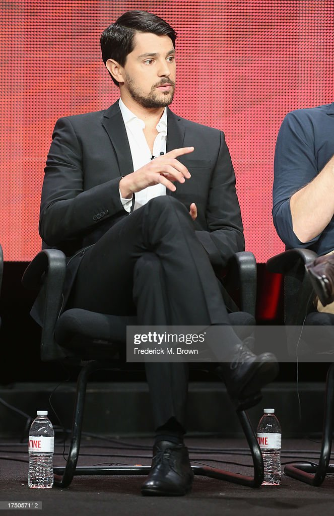 Actor Nick D'Agosto speaks onstage during the 'Masters of Sex' panel discussion at the CBS, Showtime and The CW portion of the 2013 Summer Television Critics Association tour at the Beverly Hilton Hotel on July 30, 2013 in Beverly Hills, California.