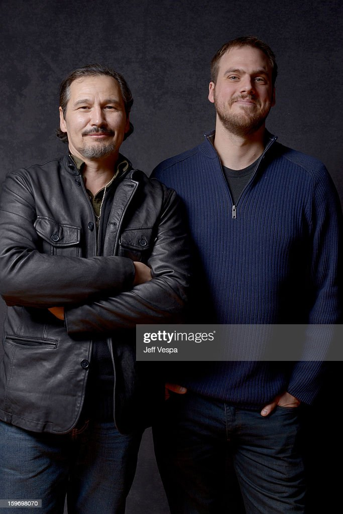 Actor Nick Damici (L) and filmmaker Jim Mickle pose for a portrait during the 2013 Sundance Film Festival at the WireImage Portrait Studio at Village At The Lift on January 18, 2013 in Park City, Utah.