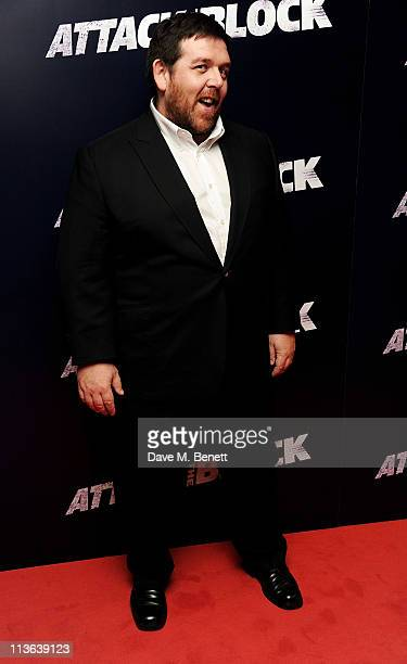 Actor Nick Frost attends the UK Premiere of Attack The Block at Vue Leicester Square on May 4 2011 in London England