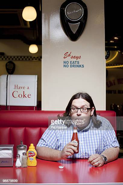Actor Nick Frost poses for a portrait shoot in London courtesy of Ed's Diner on April 13 2010