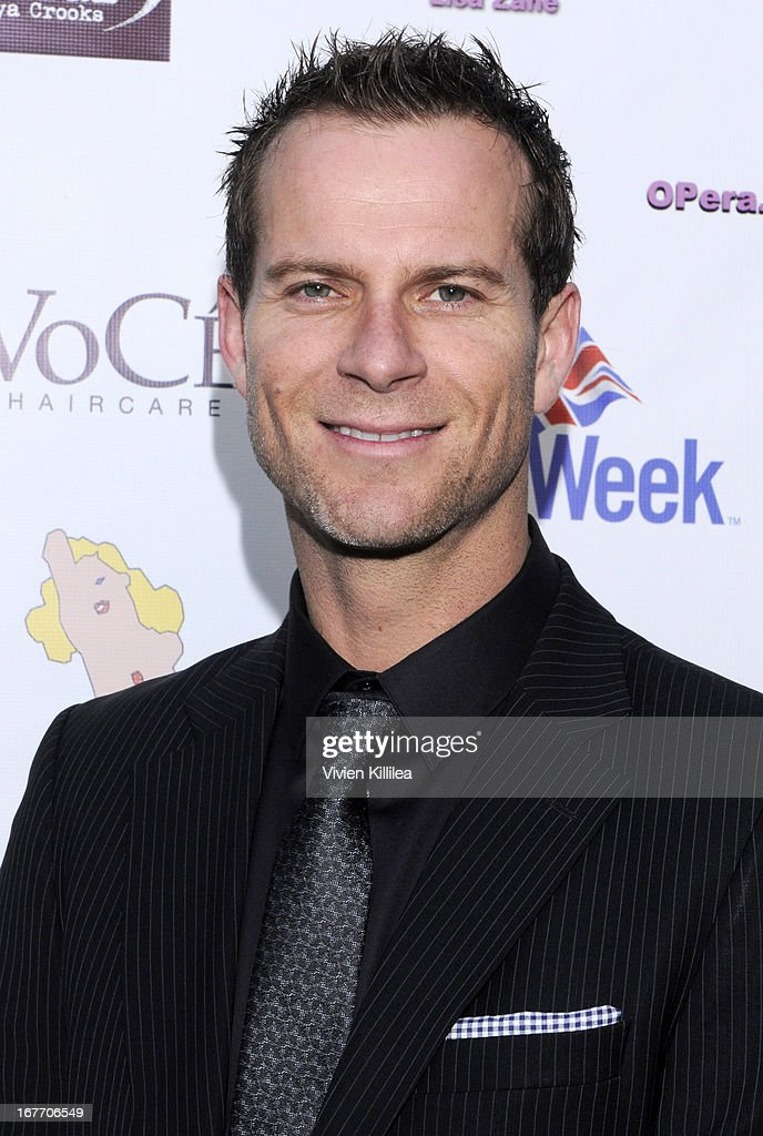 Actor Nick Heaney attends Filmmaker And Genlux Magazine Fashion Editor Amanda Eliasch Hosts BritWeek 2013 Cocktail Party on April 27, 2013 in West Hollywood, California.