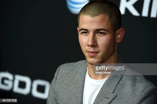 Actor Nick Jonas attends the premiere of DIRECTV's 'Kingdom' Season 2 at SilverScreen Theater at the Pacific Design Center on October 6 2015 in West...