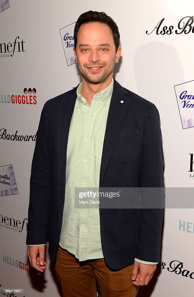 Actor <a gi-track='captionPersonalityLinkClicked' href=/galleries/search?phrase=Nick+Kroll&family=editorial&specificpeople=4432339 ng-click='$event.stopPropagation()'>Nick Kroll</a> attends the premiere of Gravitas Ventures' 'Ass Backwards' at the Vista Theatre on October 30, 2013 in Los Angeles, California.