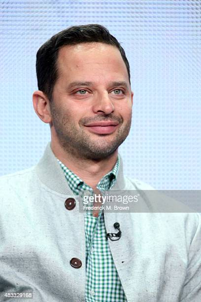 Actor Nick Kroll speaks onstage during 'The League' panel discussion at the FX portion of the 2015 Summer TCA Tour at The Beverly Hilton Hotel on...