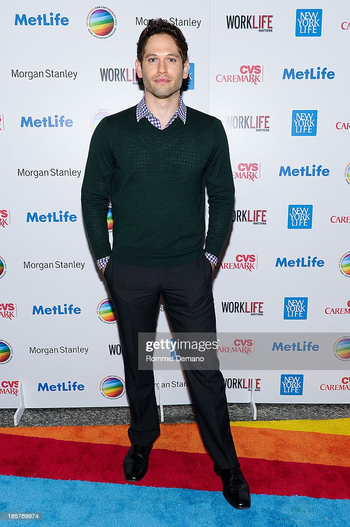 Actor Nick Mathews attends the 11th Annual Work Life Matters gala at Club 101 on October 24, 2013 in New York City.