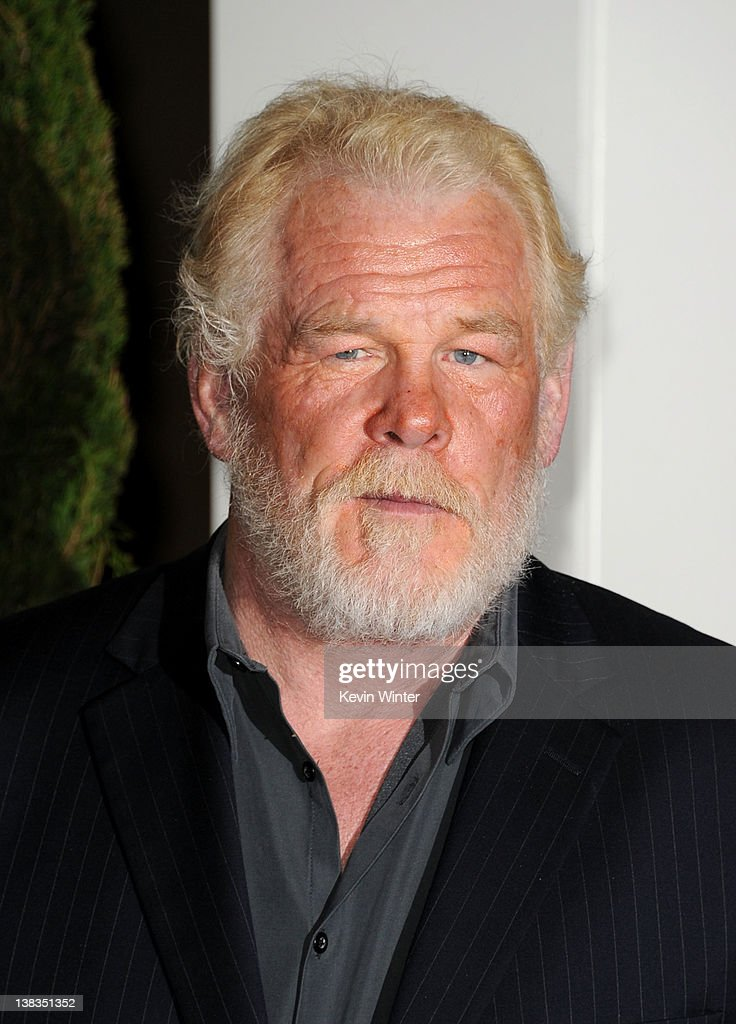 Actor Nick Nolte arrives at the 84th Academy Awards Nominations Luncheon at The Beverly Hilton hotel on February 6 2012 in Beverly Hills California