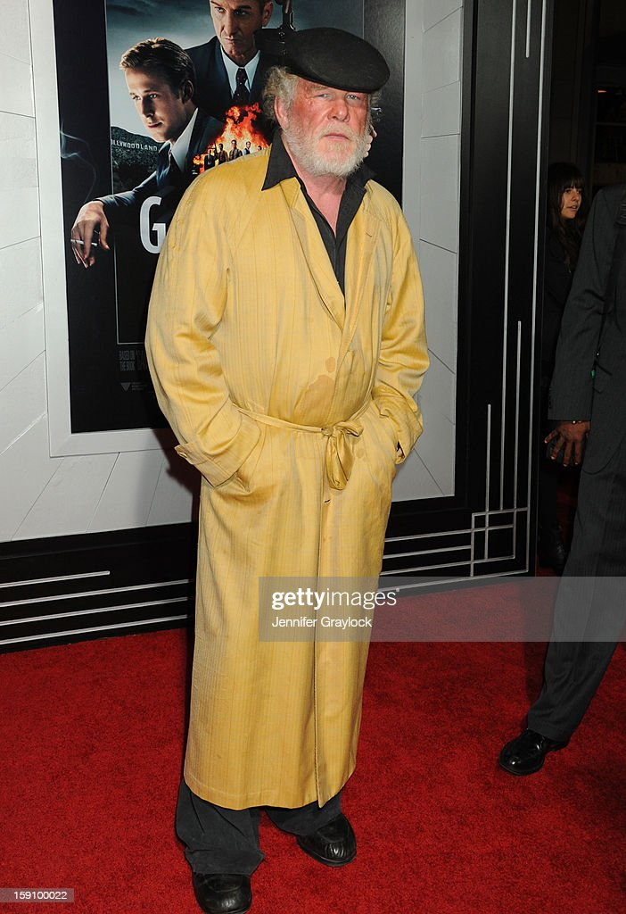 Actor Nick Nolte attends the 'Gangster Squad' Los Angeles premiere held at Grauman's Chinese Theatre on January 7, 2013 in Hollywood, California.