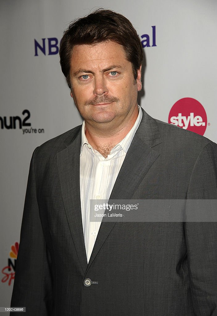 Actor <a gi-track='captionPersonalityLinkClicked' href=/galleries/search?phrase=Nick+Offerman&family=editorial&specificpeople=3142027 ng-click='$event.stopPropagation()'>Nick Offerman</a> attends NBC's 2011 TCA summer press tour at The Bazaar at the SLS Hotel on August 1, 2011 in Los Angeles, California.