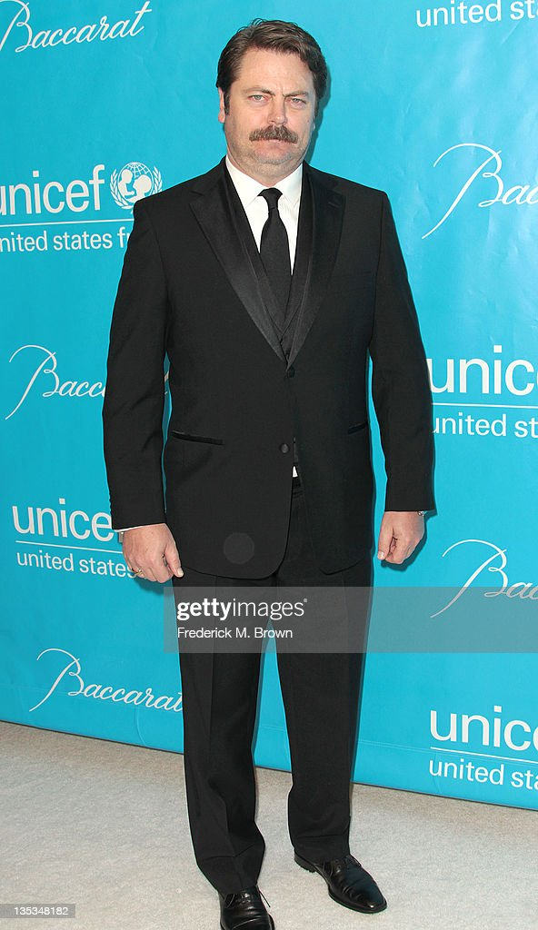 Actor <a gi-track='captionPersonalityLinkClicked' href=/galleries/search?phrase=Nick+Offerman&family=editorial&specificpeople=3142027 ng-click='$event.stopPropagation()'>Nick Offerman</a> attends The 2011 Unicef Ball at The Beverly Wilshire Hotel on December 8, 2011 in Beverly Hills, California