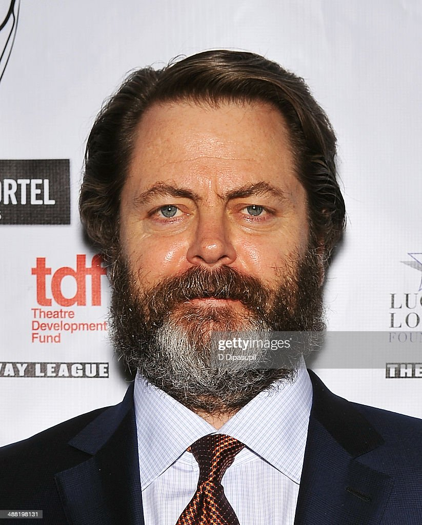 Actor <a gi-track='captionPersonalityLinkClicked' href=/galleries/search?phrase=Nick+Offerman&family=editorial&specificpeople=3142027 ng-click='$event.stopPropagation()'>Nick Offerman</a> attends the 29th Annual Lucille Lortel Awards at NYU Skirball Center on May 4, 2014 in New York City.