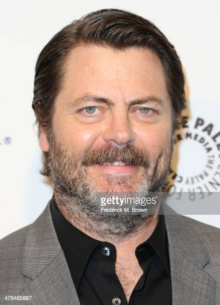 Actor Nick Offerman attends The Paley Center for Media's PaleyFest 2014 Honoring 'Parks and Recreation' at the Dolby Theatre on March 18 2014 in...