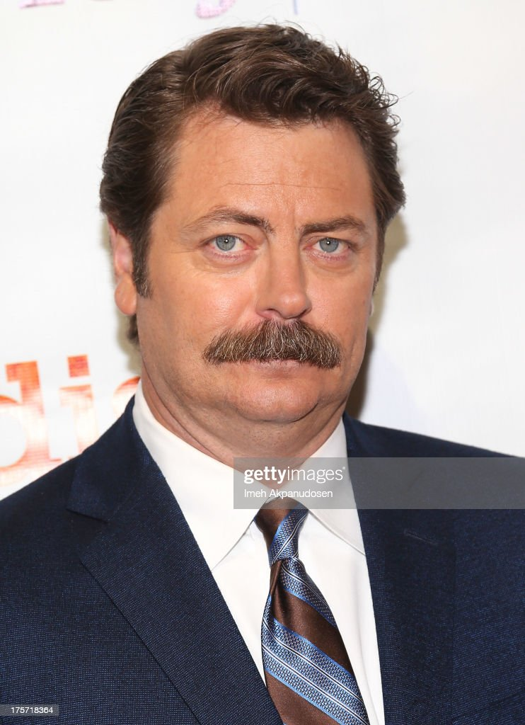Actor <a gi-track='captionPersonalityLinkClicked' href=/galleries/search?phrase=Nick+Offerman&family=editorial&specificpeople=3142027 ng-click='$event.stopPropagation()'>Nick Offerman</a> attends the premiere of DirecTV's 'Paradise' at Mann Chinese 6 on August 6, 2013 in Los Angeles, California.