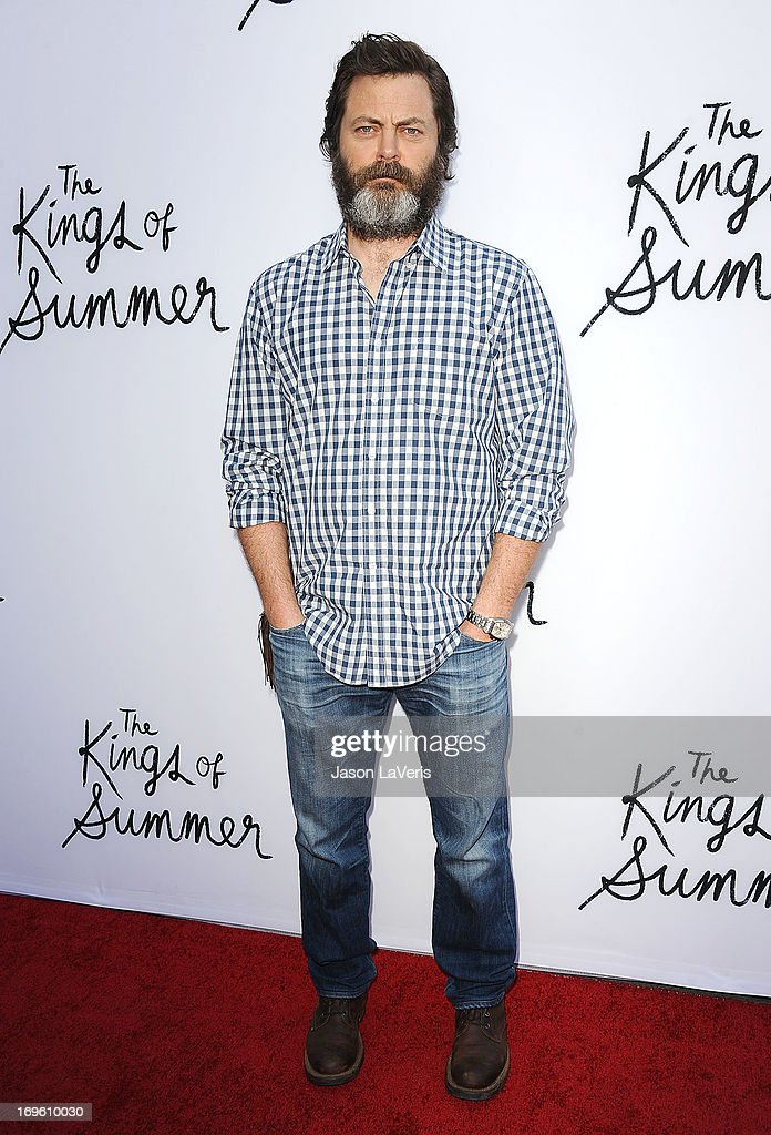 Actor Nick Offerman attends the premiere of 'The Kings Of Summer' at ArcLight Cinemas on May 28, 2013 in Hollywood, California.