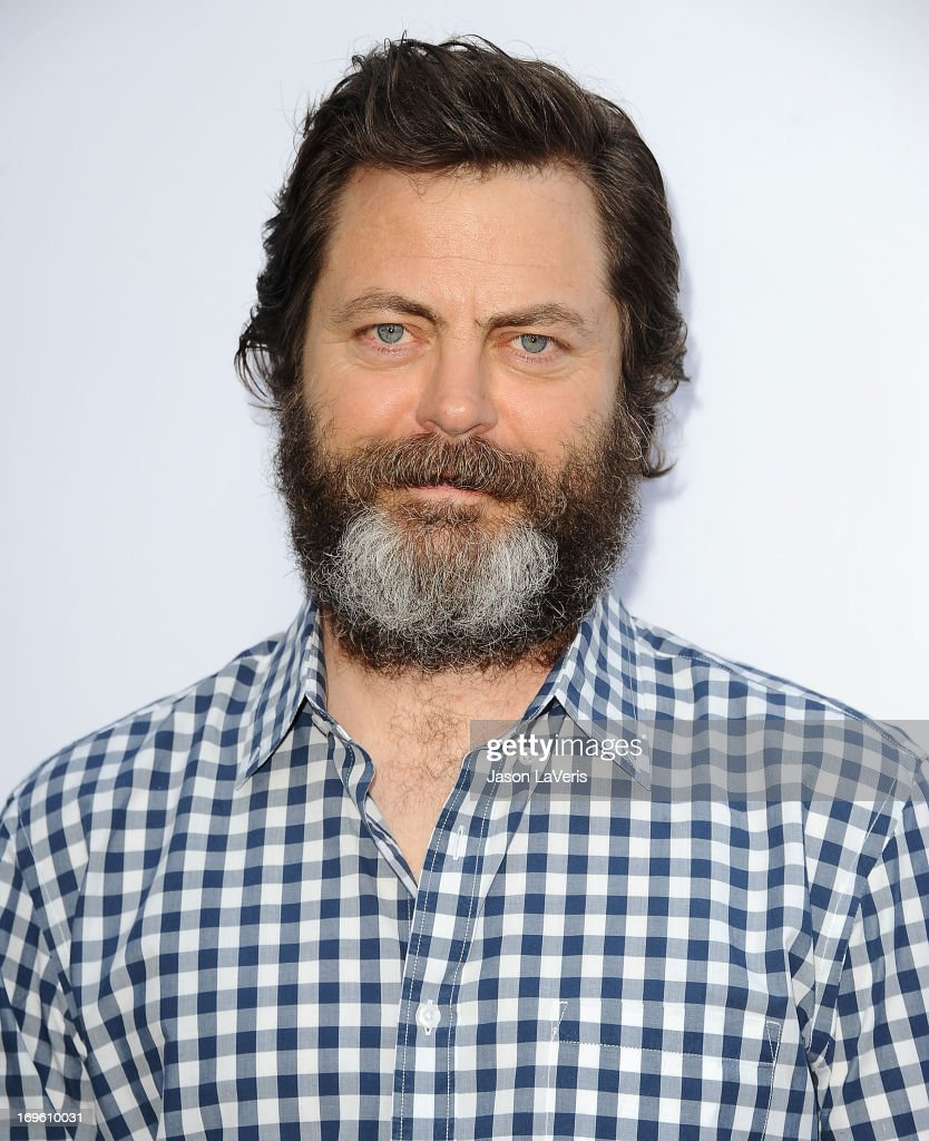 Actor <a gi-track='captionPersonalityLinkClicked' href=/galleries/search?phrase=Nick+Offerman&family=editorial&specificpeople=3142027 ng-click='$event.stopPropagation()'>Nick Offerman</a> attends the premiere of 'The Kings Of Summer' at ArcLight Cinemas on May 28, 2013 in Hollywood, California.