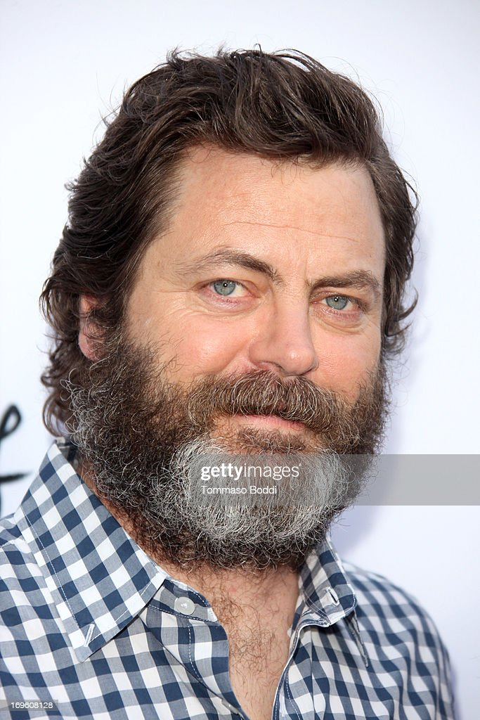 Actor <a gi-track='captionPersonalityLinkClicked' href=/galleries/search?phrase=Nick+Offerman&family=editorial&specificpeople=3142027 ng-click='$event.stopPropagation()'>Nick Offerman</a> attends the 'The Kings Of Summer' Los Angeles premiere held at the ArcLight Hollywood on May 28, 2013 in Hollywood, California.